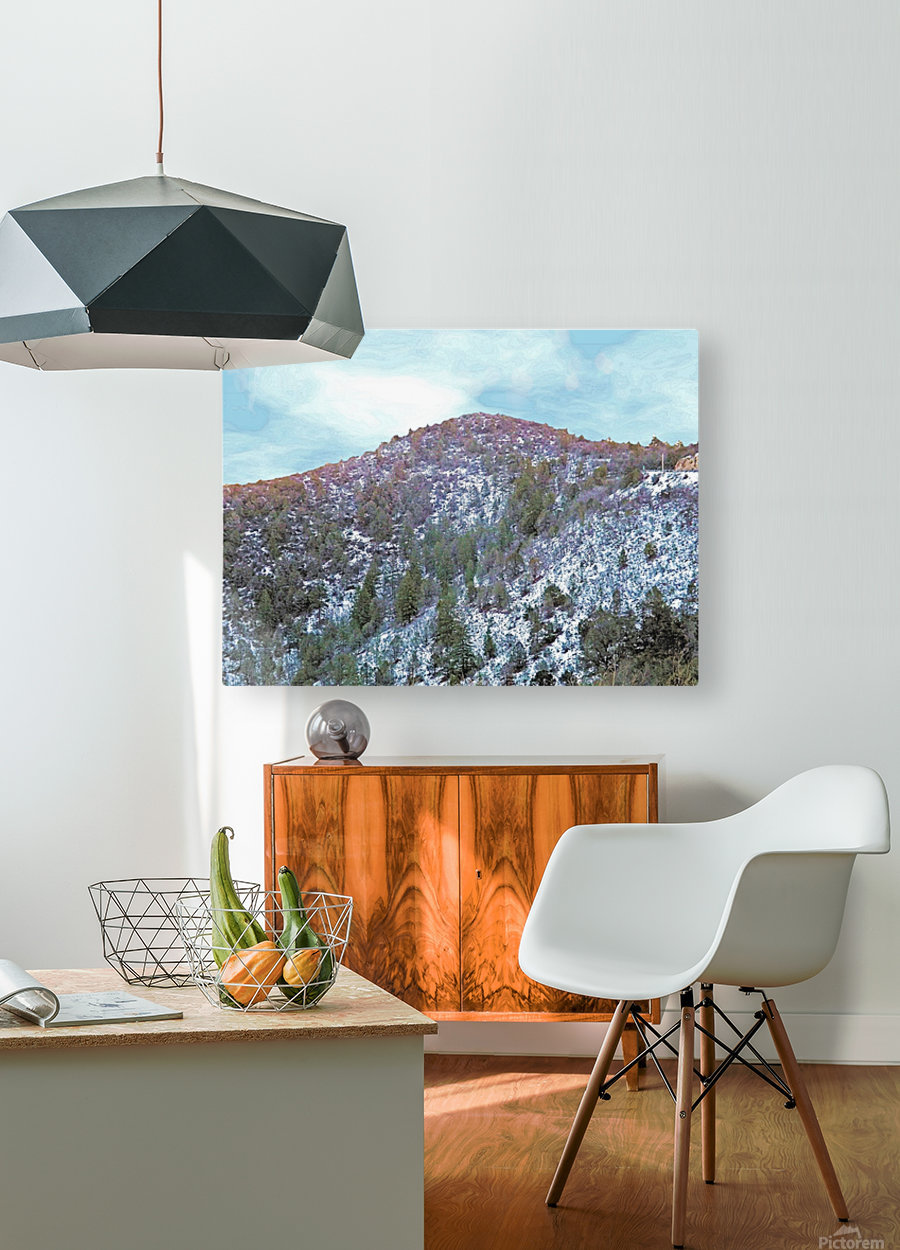 Melting Snow  HD Metal print with Floating Frame on Back