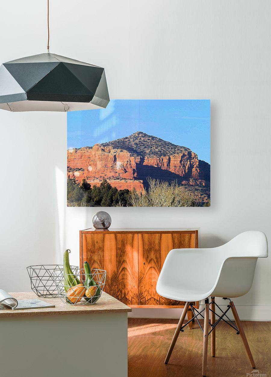 More Red Rocks  Impression métal HD avec cadre flottant sur le dos