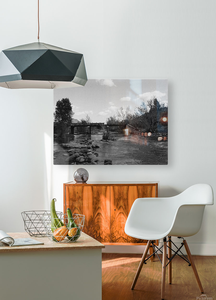 Old Railroad  HD Metal print with Floating Frame on Back