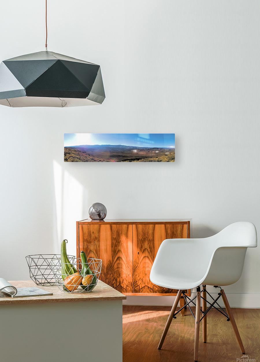 More at Sunset Pointe  Impression métal HD avec cadre flottant sur le dos