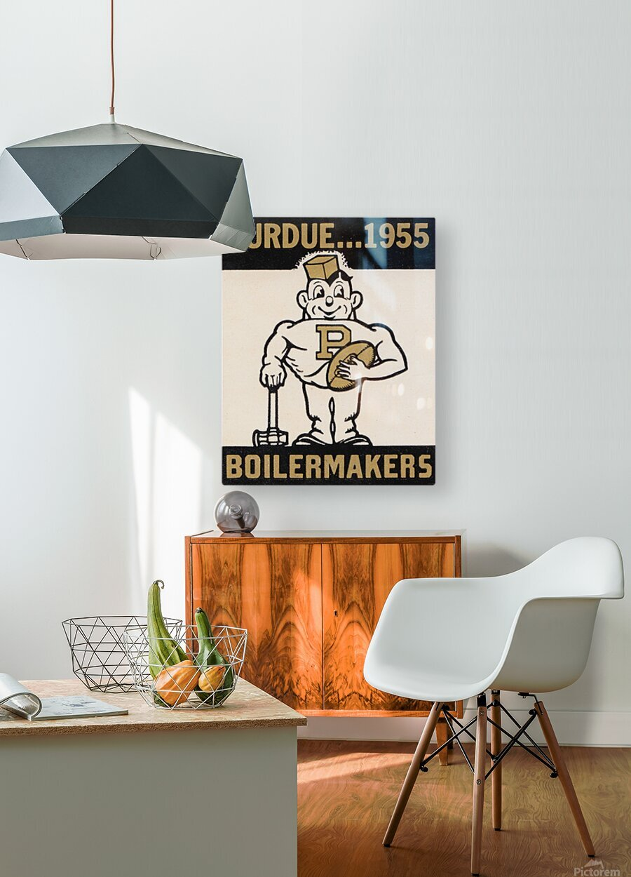 Vintage Purdue Boilermakers Art Print  HD Metal print with Floating Frame on Back