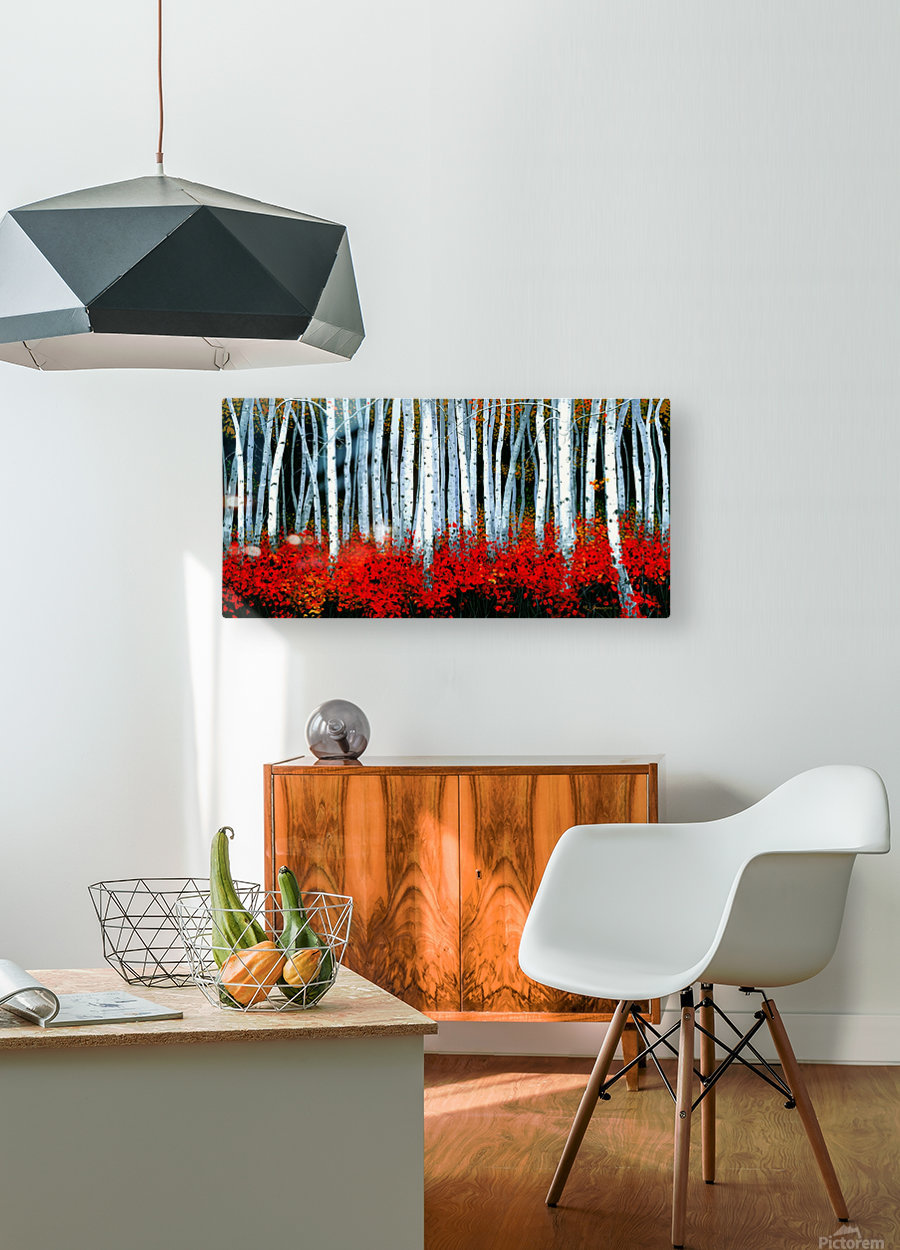 Autumn Aspens  HD Metal print with Floating Frame on Back