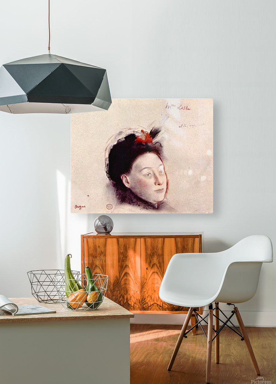 Portrait of Madame Lisle by Degas  HD Metal print with Floating Frame on Back