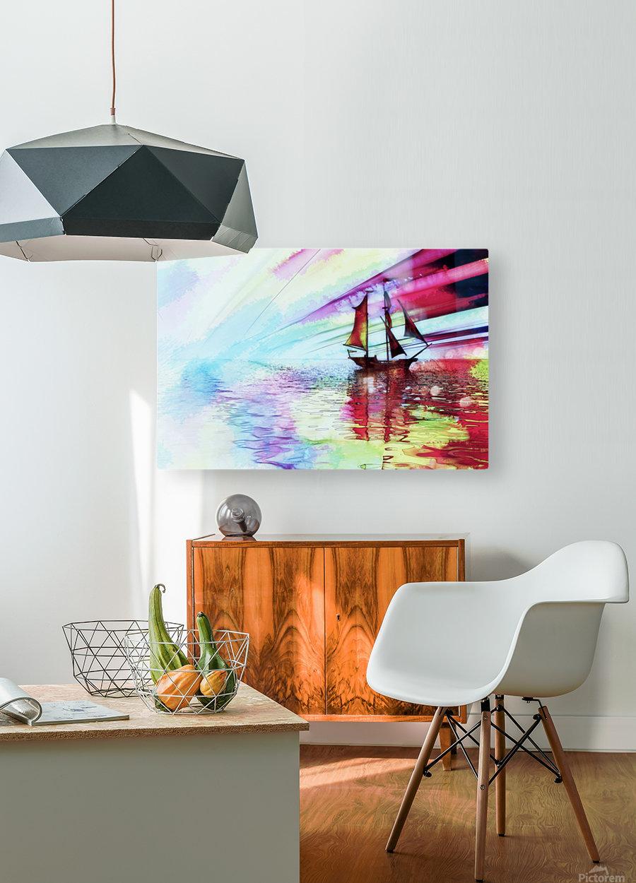 wanderlust  HD Metal print with Floating Frame on Back