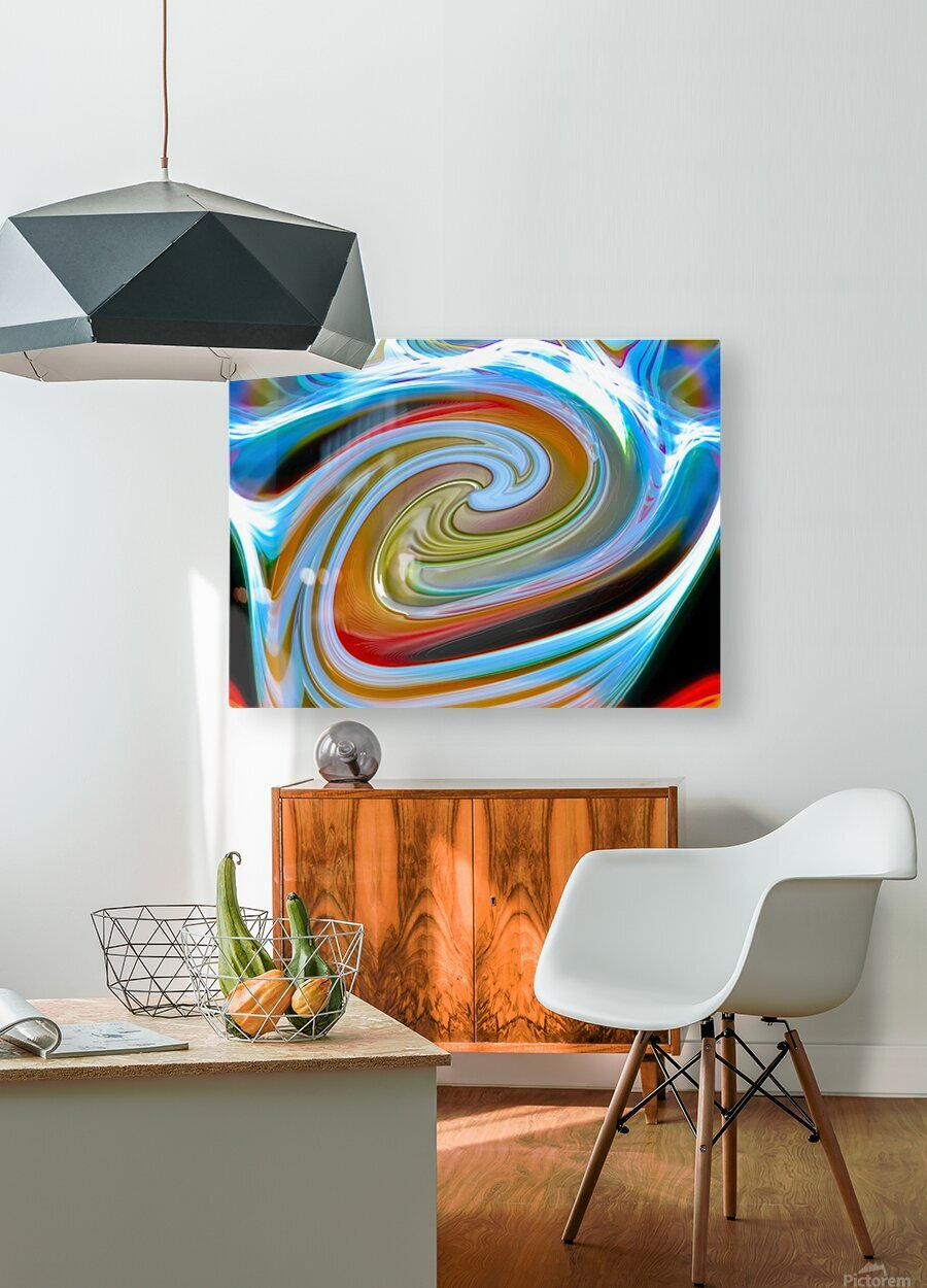 WORLD WIND  HD Metal print with Floating Frame on Back