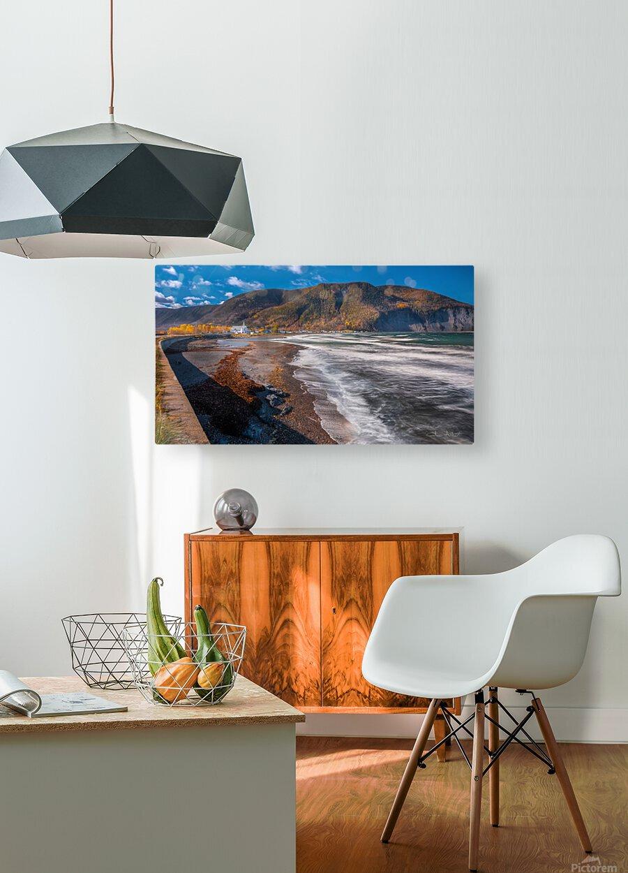 Village Mont-Saint-Pierre  Impression métal HD avec cadre flottant sur le dos