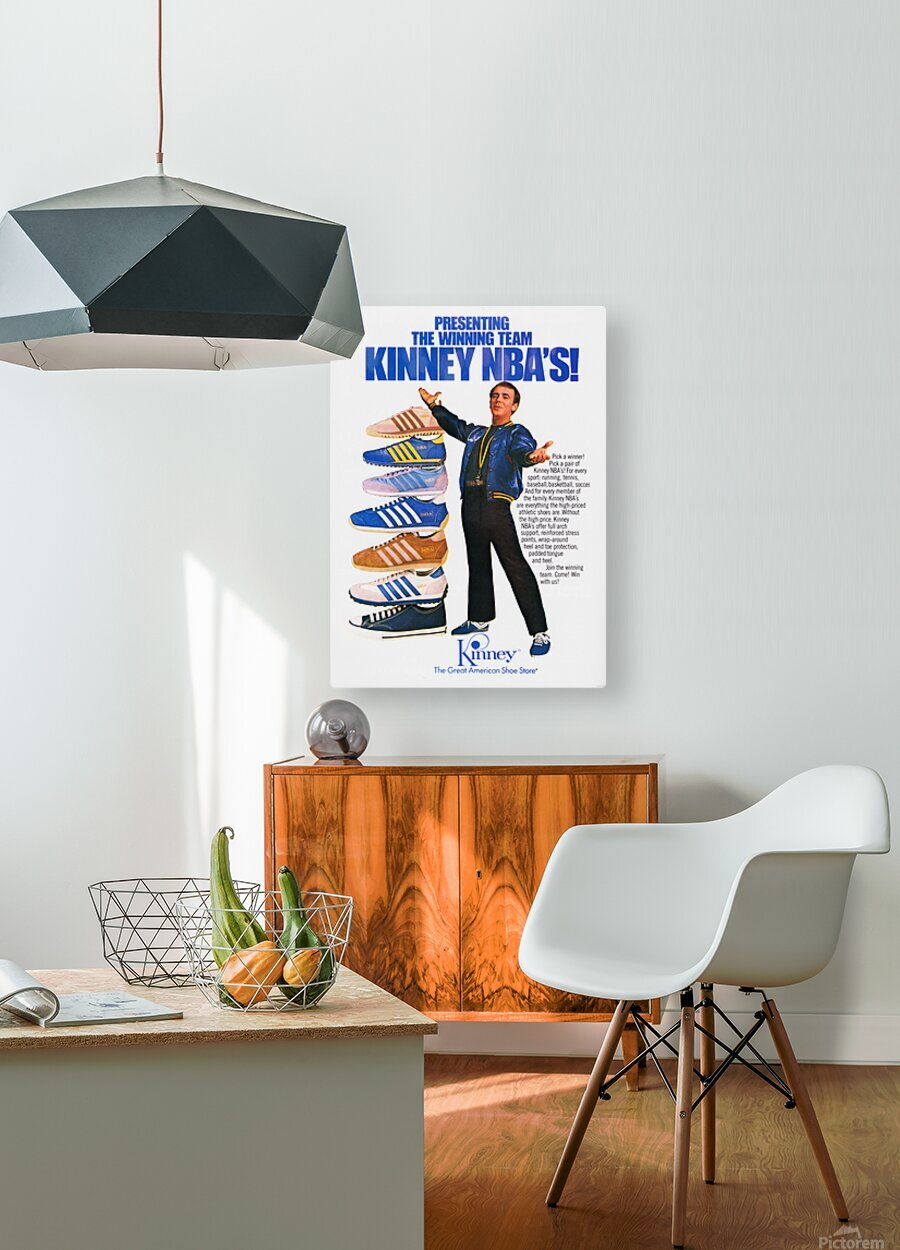 1979 Kinney NBA Shoes Ad  HD Metal print with Floating Frame on Back