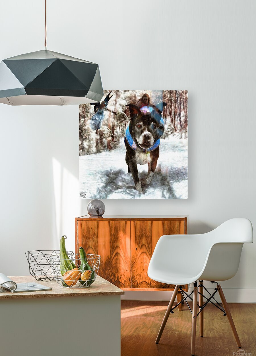 Tux with the Fairies  HD Metal print with Floating Frame on Back