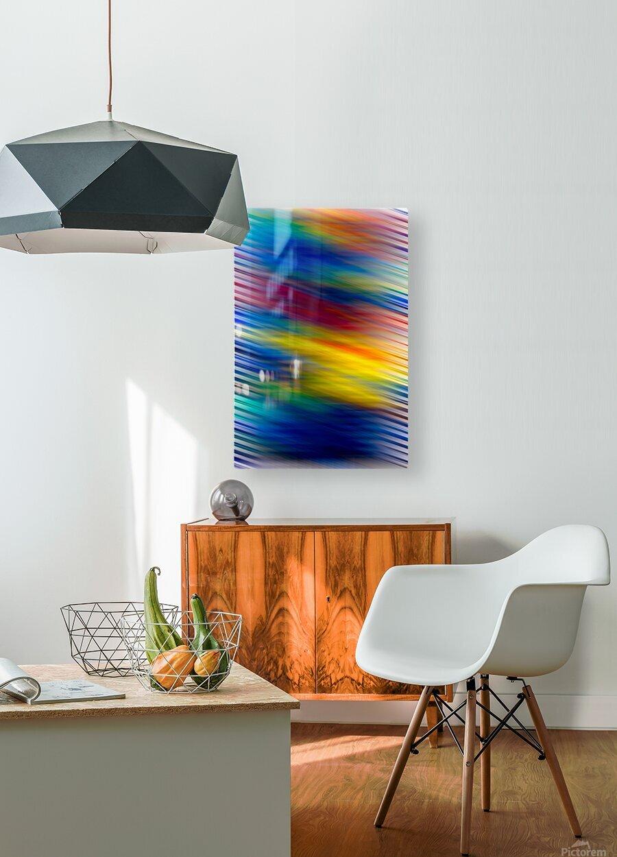 STREEKO COLORS  HD Metal print with Floating Frame on Back