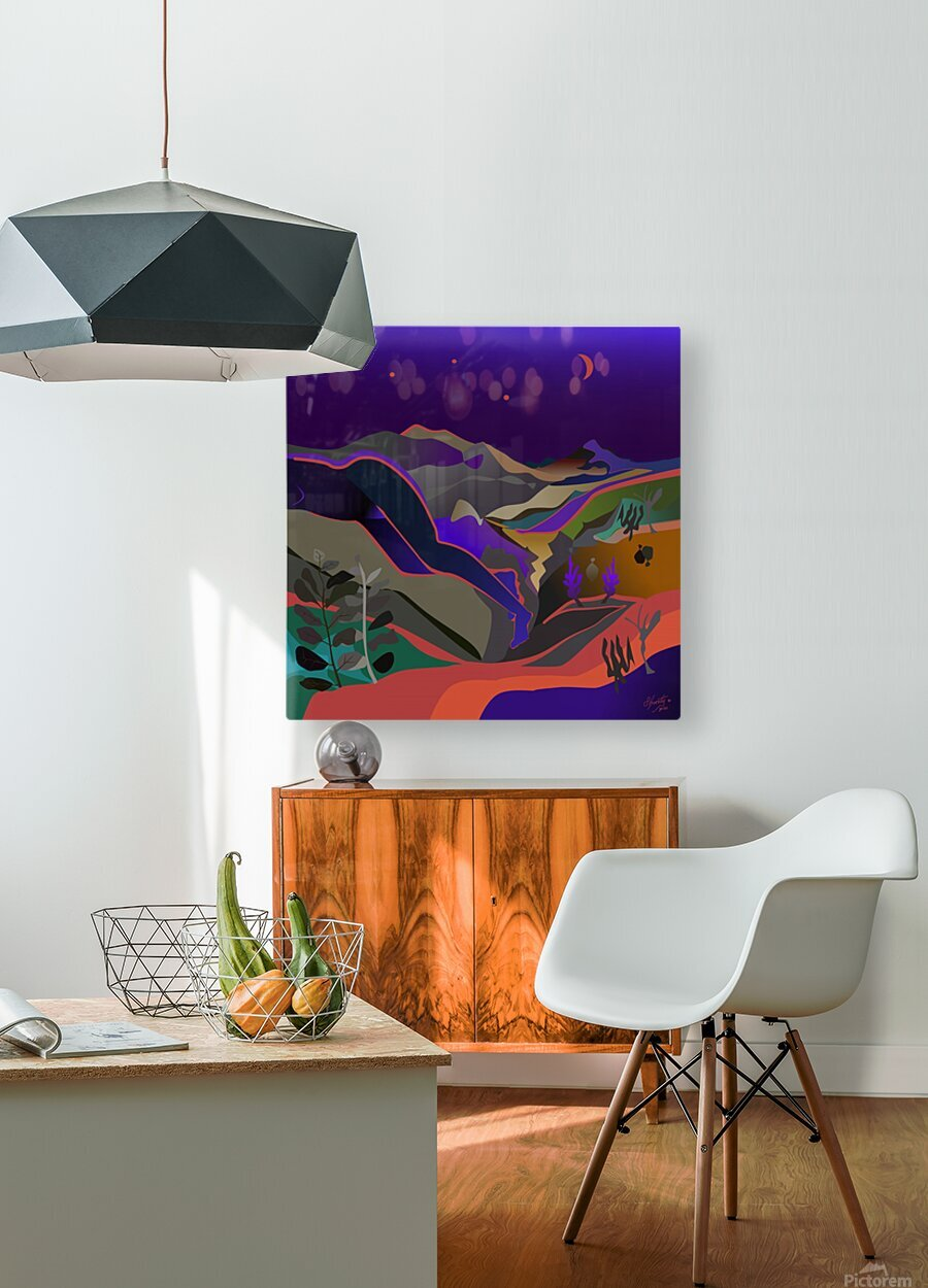 Dreaming at Lookout Mountain  HD Metal print with Floating Frame on Back