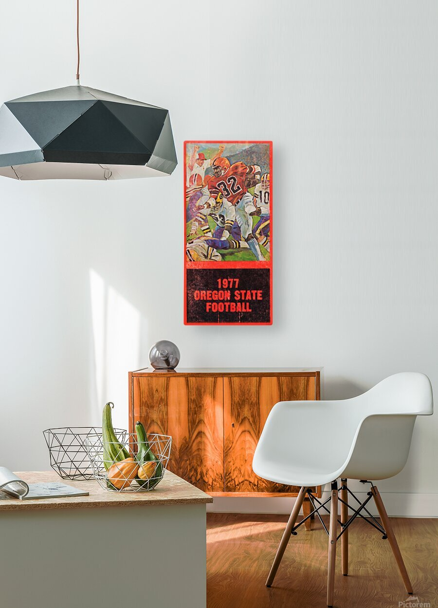 1977 Oregon State Football Art  HD Metal print with Floating Frame on Back