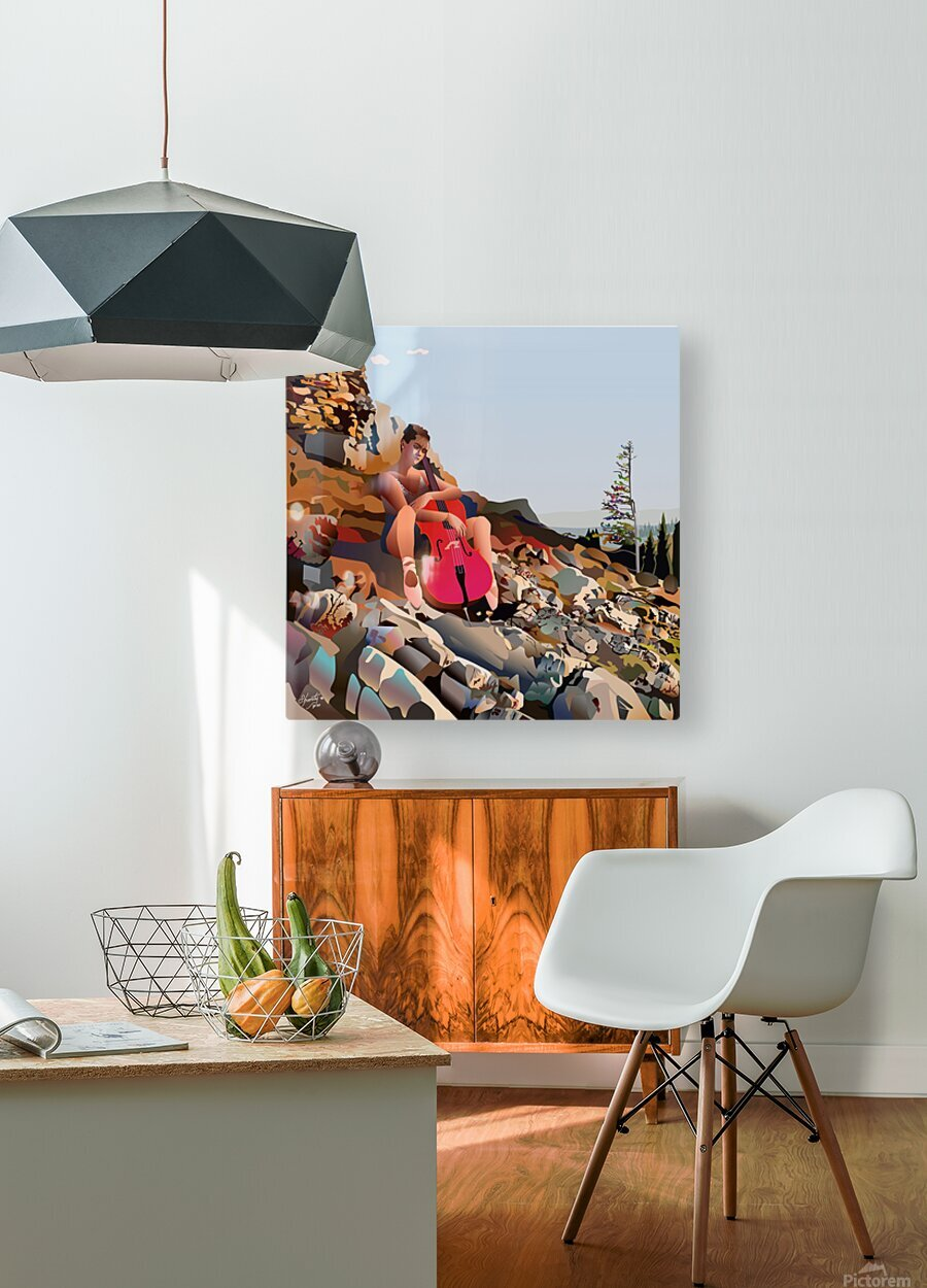 The Medicine of Medicine Bow  HD Metal print with Floating Frame on Back