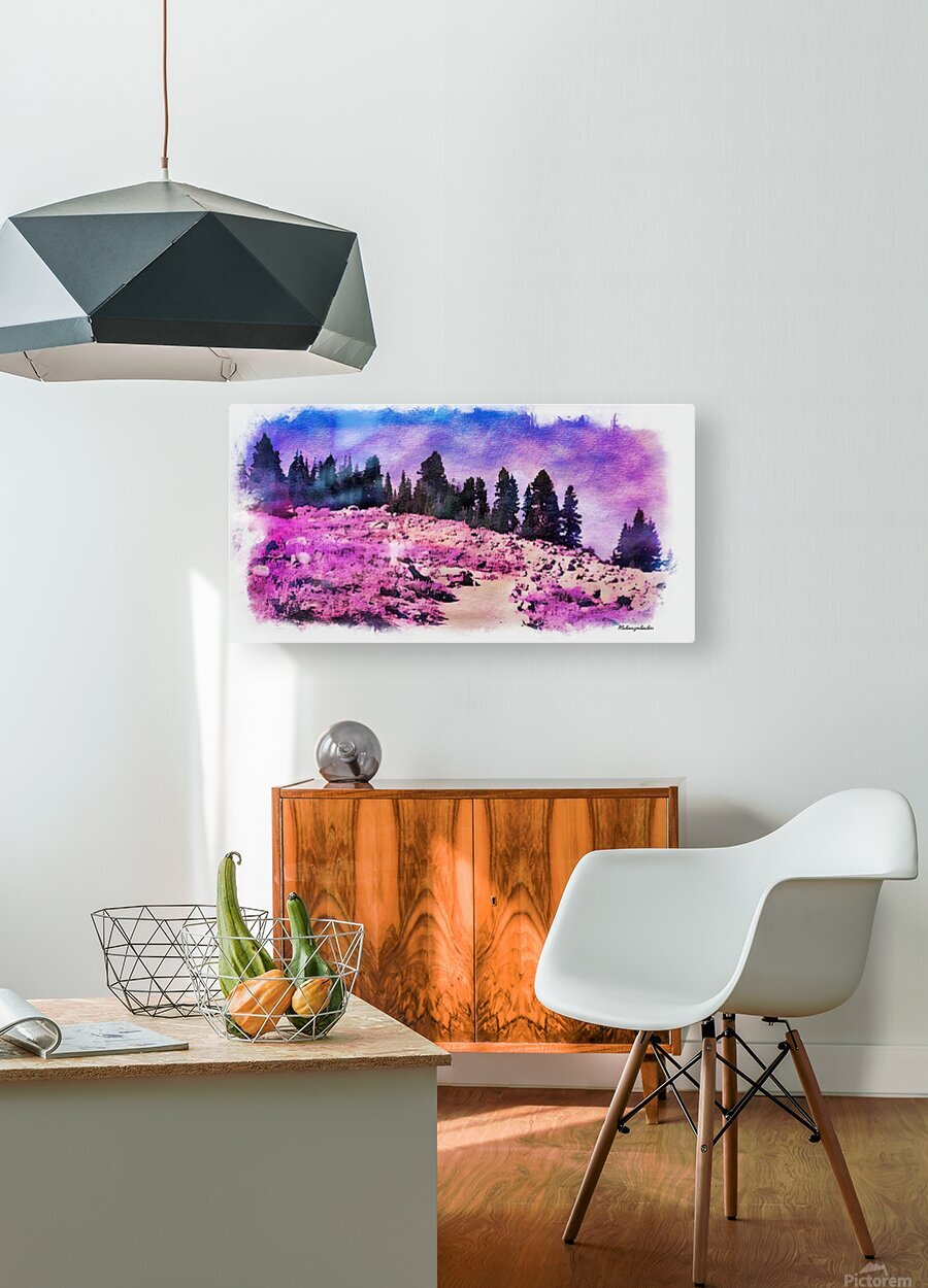 Lavender Field  HD Metal print with Floating Frame on Back
