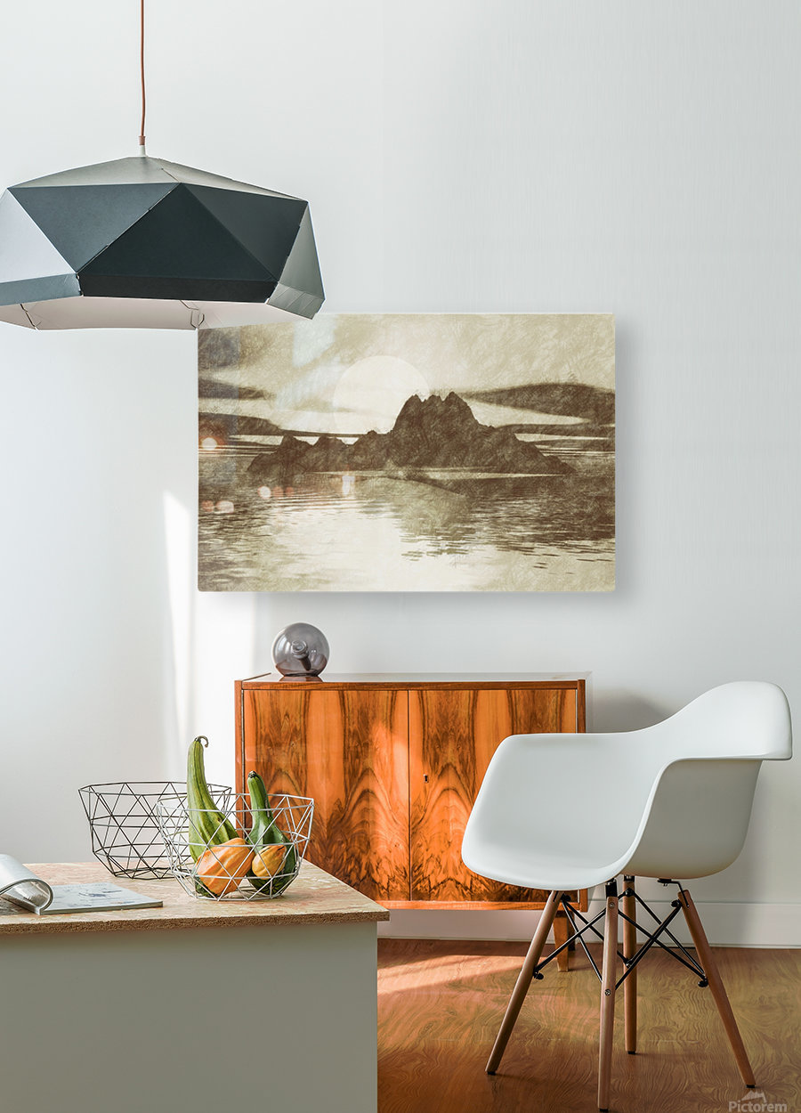 Island  HD Metal print with Floating Frame on Back