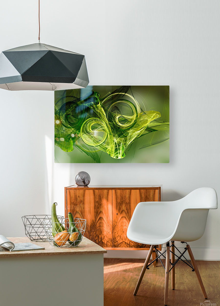 Frog  HD Metal print with Floating Frame on Back