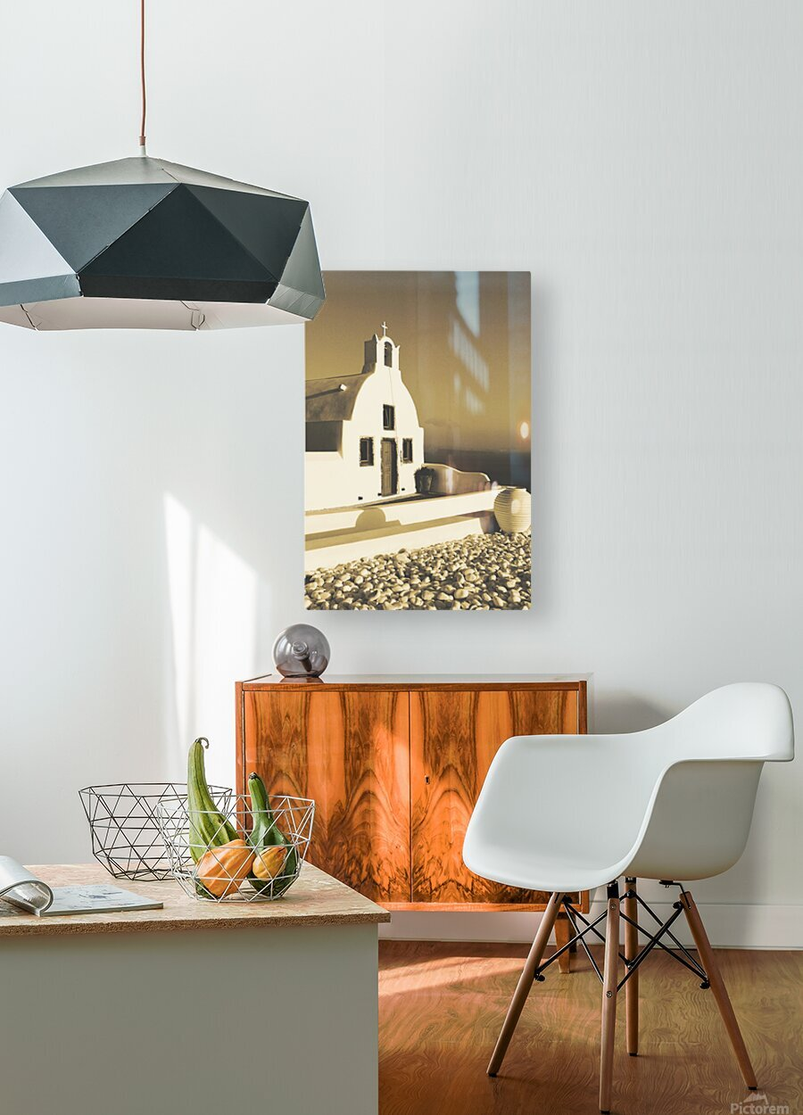 The Small Chapel  HD Metal print with Floating Frame on Back