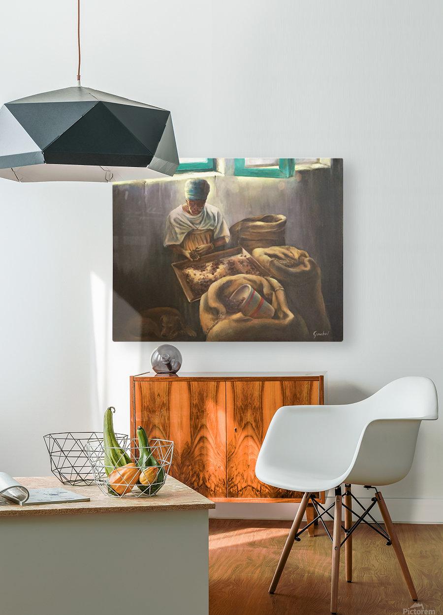 The Nutmeg Sorter  HD Metal print with Floating Frame on Back