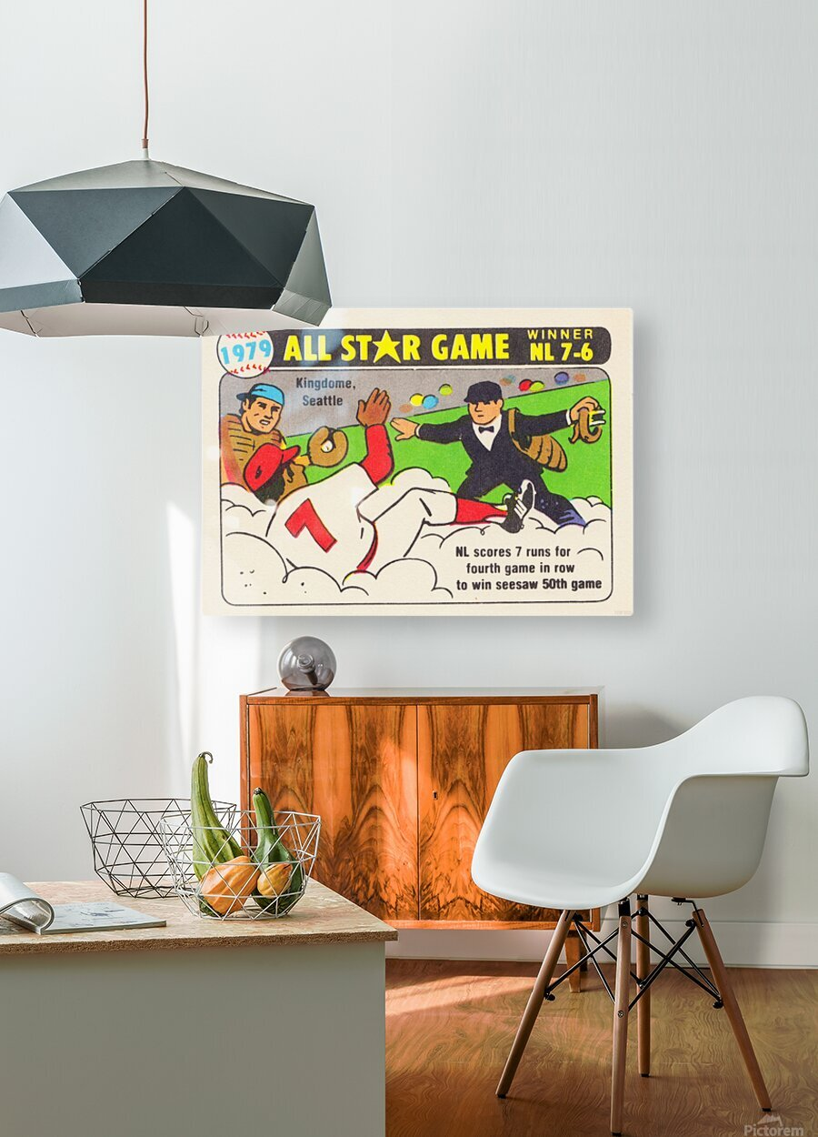 1979 All Star Game Baseball Art  HD Metal print with Floating Frame on Back