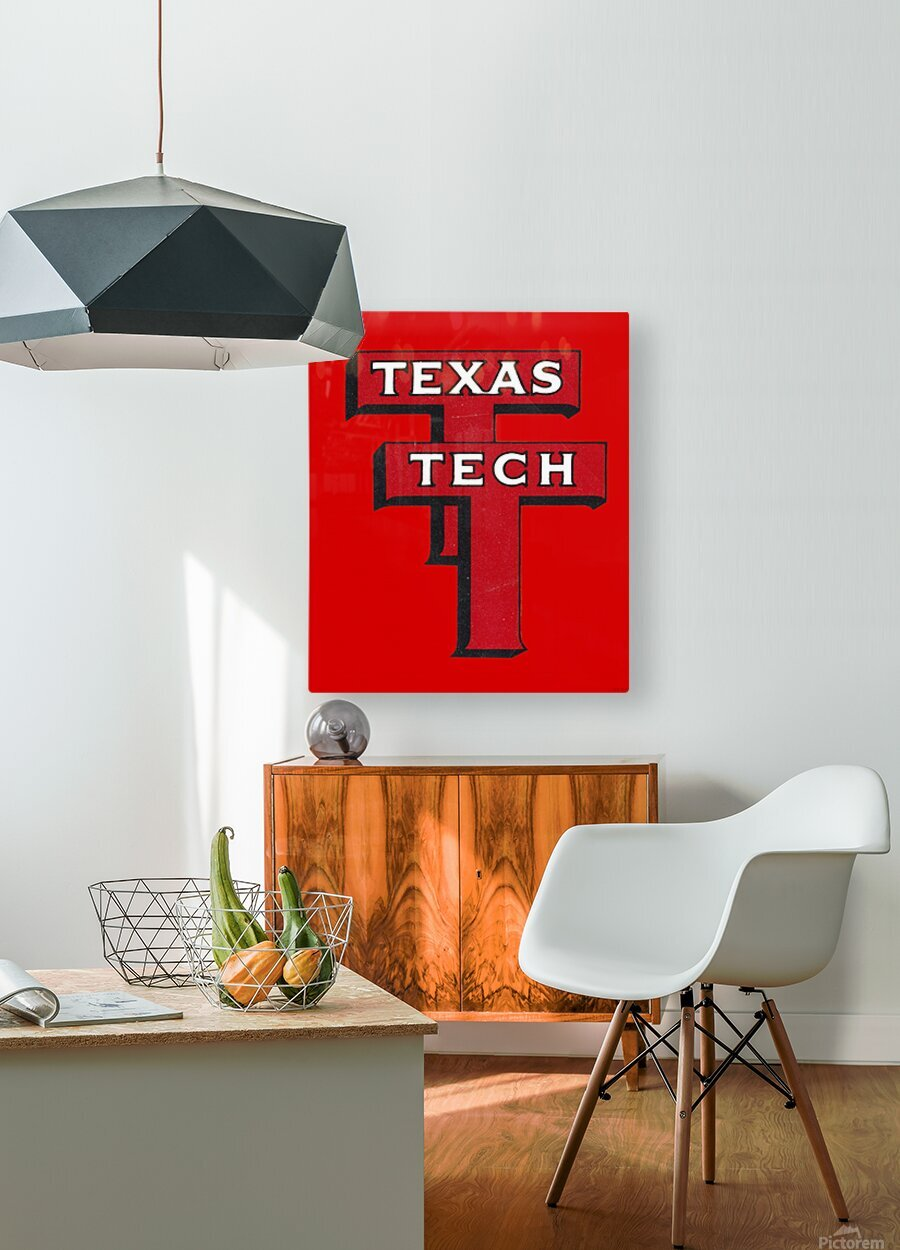 1948 Texas Tech Art  HD Metal print with Floating Frame on Back