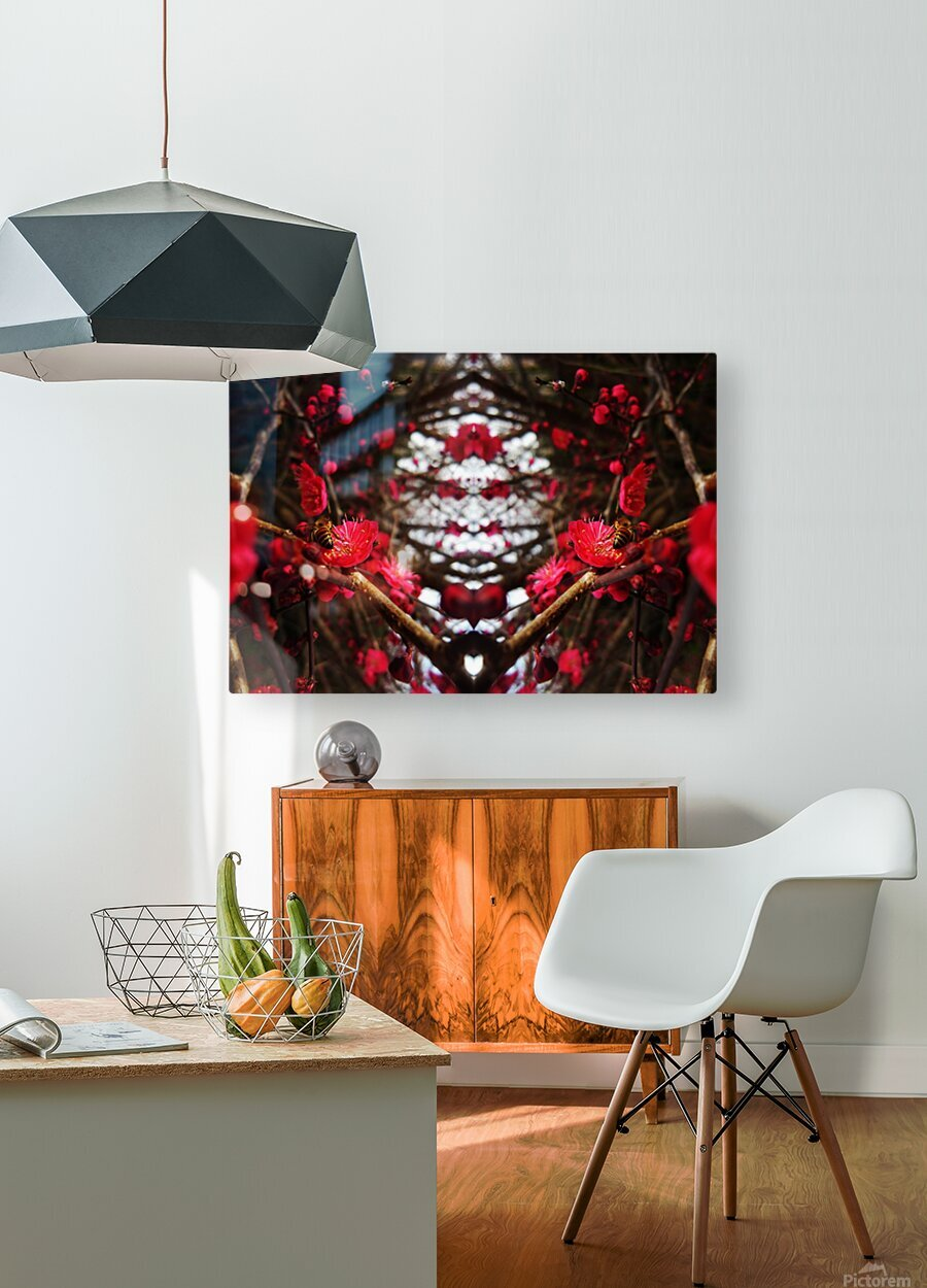 flower83  HD Metal print with Floating Frame on Back