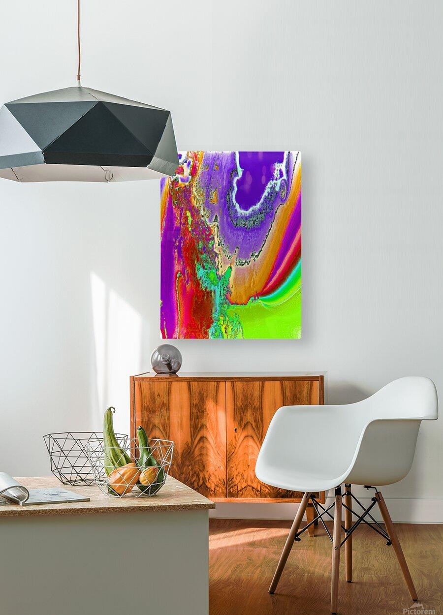 Sacred colors  HD Metal print with Floating Frame on Back