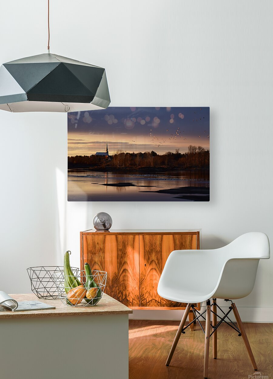 Officiellement le printemps  HD Metal print with Floating Frame on Back