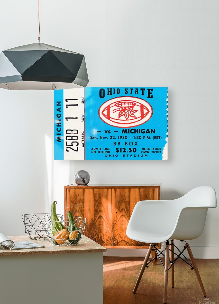 1980 Ohio State vs. Michigan  HD Metal print with Floating Frame on Back