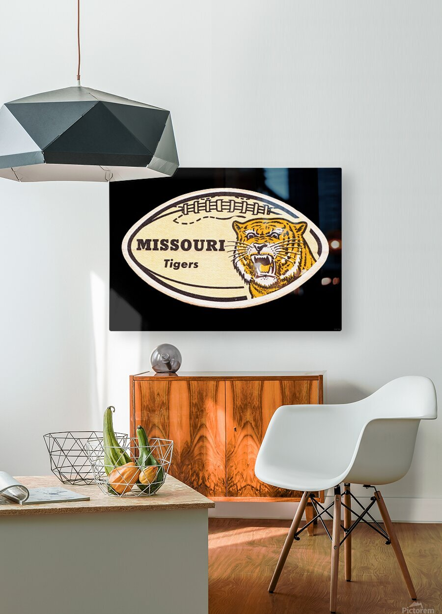 1965 Missouri Tiger Football Art  HD Metal print with Floating Frame on Back