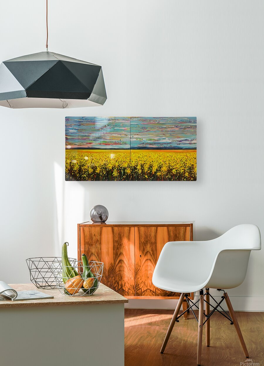 Arcadia Full Painting  HD Metal print with Floating Frame on Back