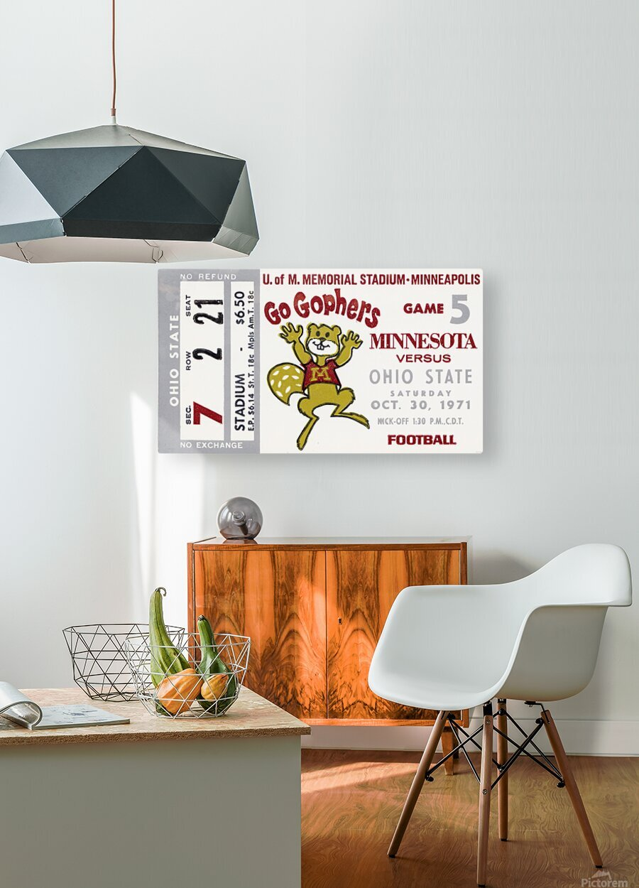 1971 Minnesota vs. Ohio State  HD Metal print with Floating Frame on Back