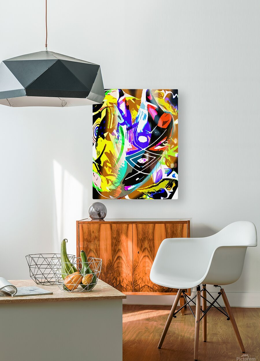 D M T  HD Metal print with Floating Frame on Back