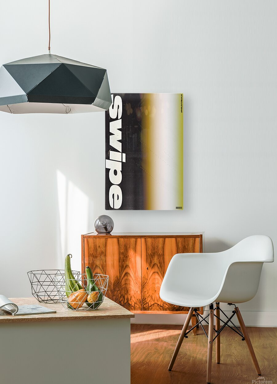 SWIPE  HD Metal print with Floating Frame on Back