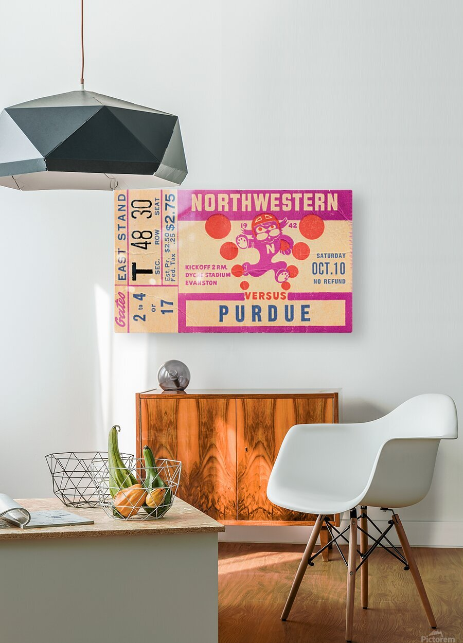 1942 Northwestern vs. Purdue  HD Metal print with Floating Frame on Back