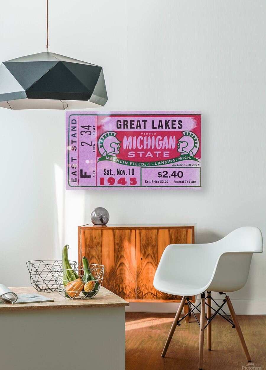 1945 Great Lakes vs. Michigan State  HD Metal print with Floating Frame on Back