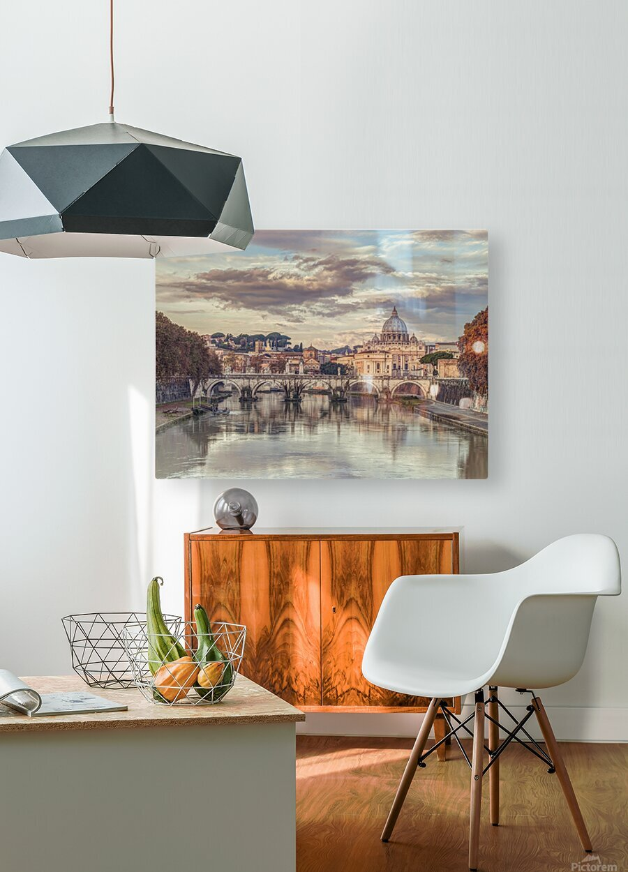 View of Basilica di San Pietro in Vatican, Rome, Italy  HD Metal print with Floating Frame on Back