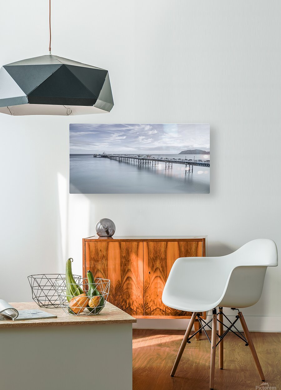 Llandudno Pier, North Wales  HD Metal print with Floating Frame on Back