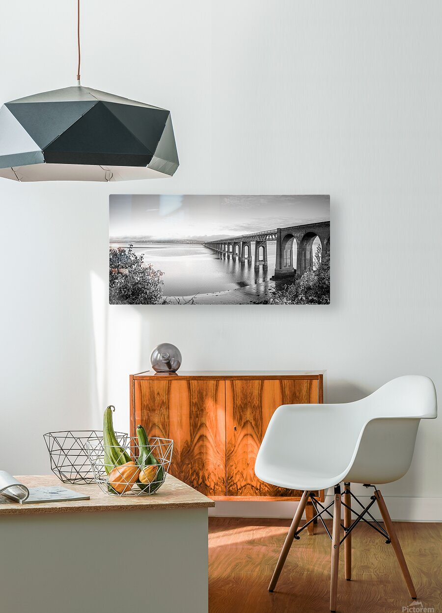 Tay Rail Bridge, Dundee, Scotland  HD Metal print with Floating Frame on Back