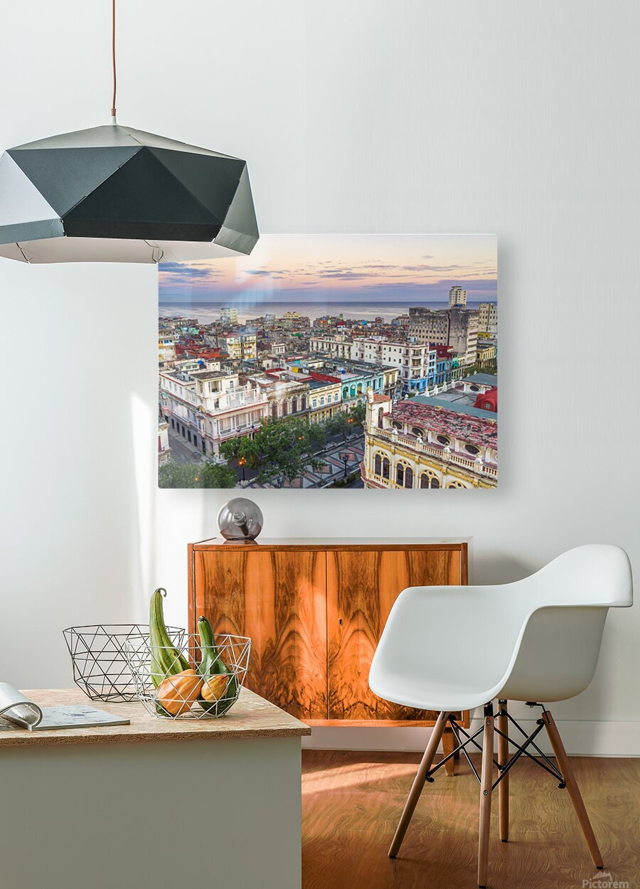 Havana from above  HD Metal print with Floating Frame on Back