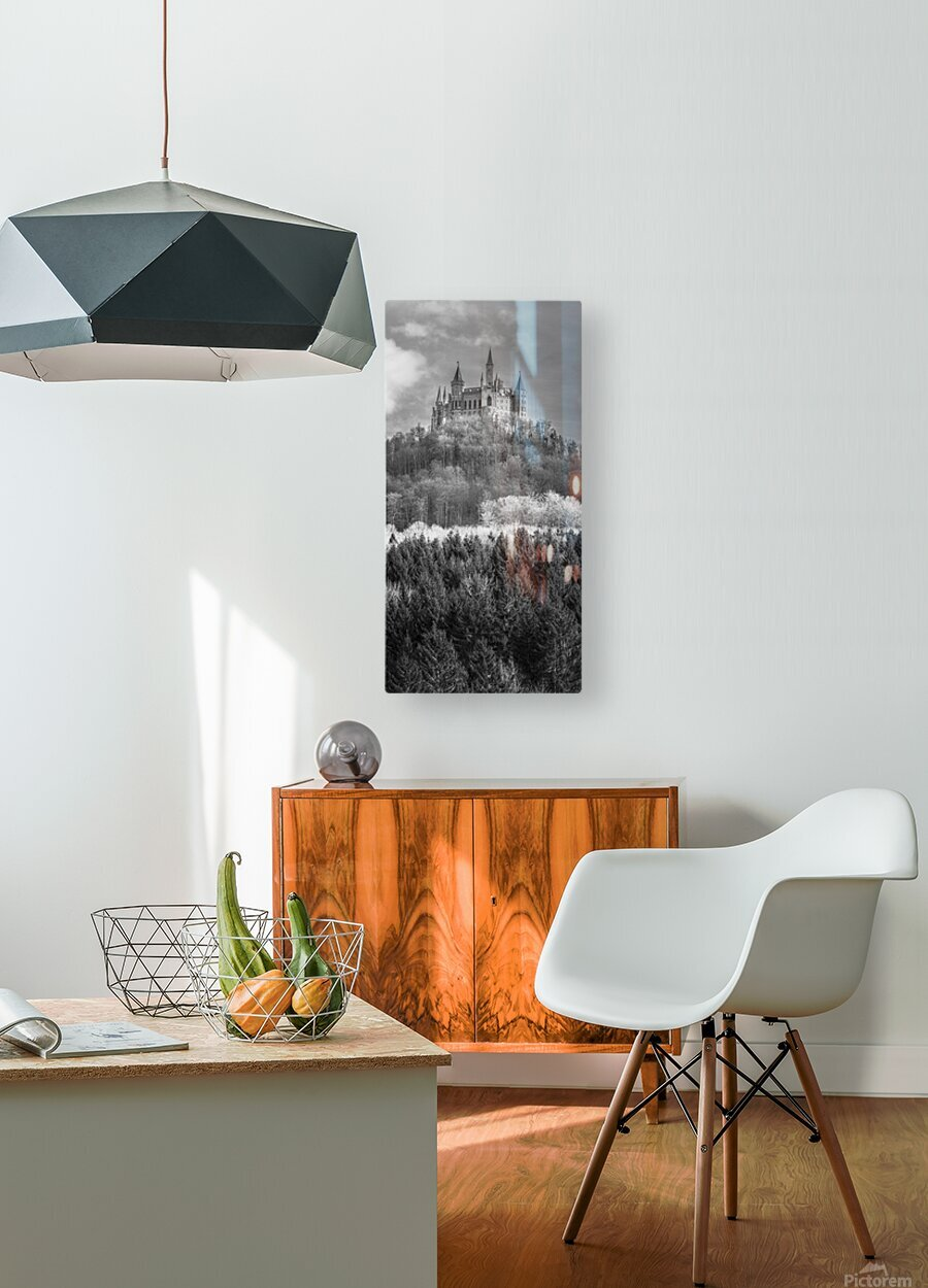 Hohenzollern Castle, Germany  HD Metal print with Floating Frame on Back