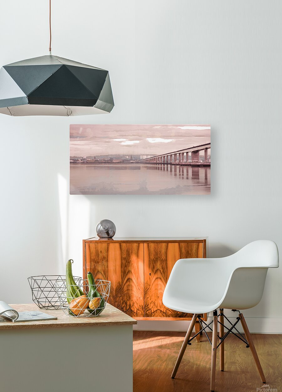 Tay Road Bridge over river Tay, Dundee, Scotland  HD Metal print with Floating Frame on Back