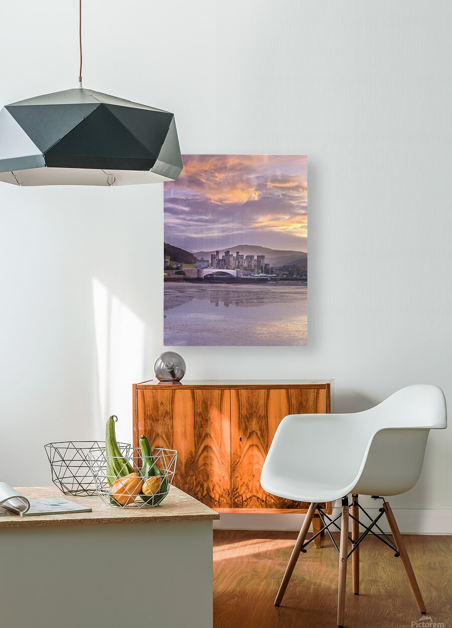 Conwy castle, North Wales coast  HD Metal print with Floating Frame on Back