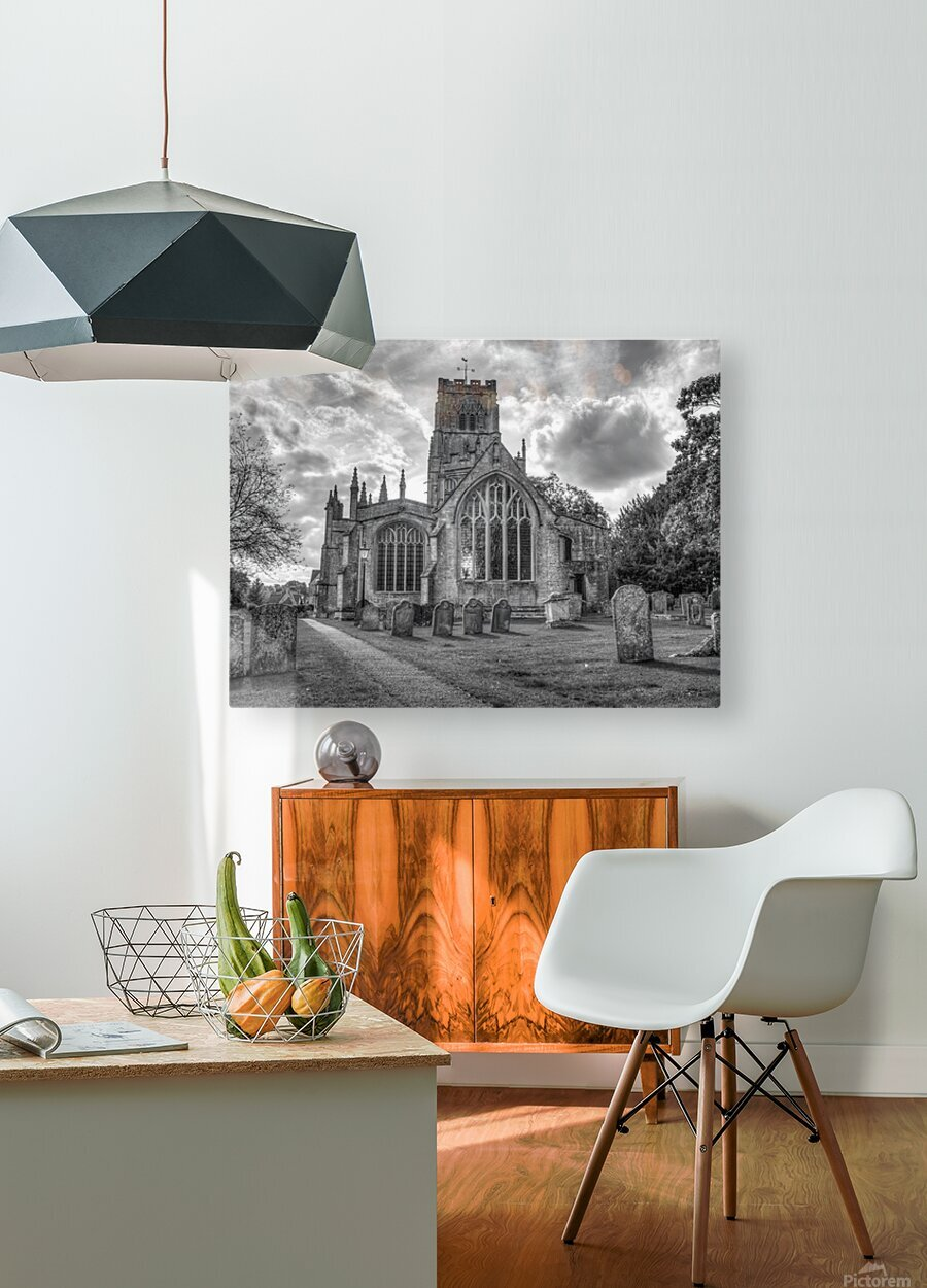 Old church in Northleach town, Cotswolds, UK  HD Metal print with Floating Frame on Back