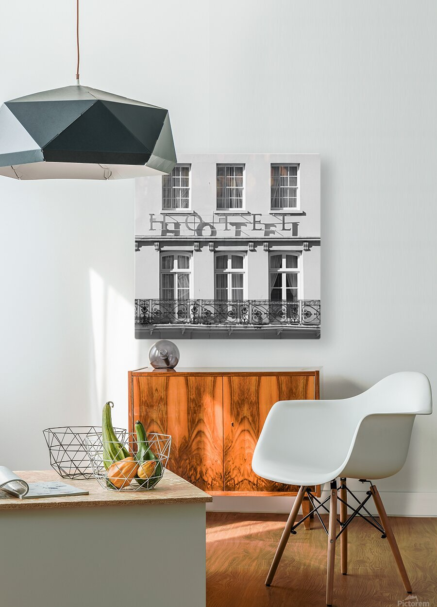 Hotel in Windosr  HD Metal print with Floating Frame on Back