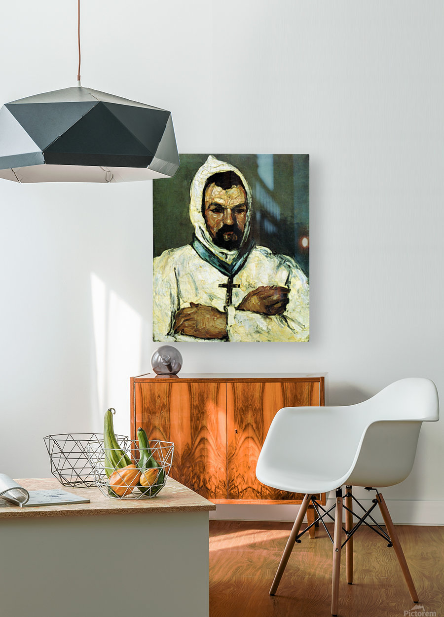 Portrait of Uncle Dominique as a monk by Cezanne  HD Metal print with Floating Frame on Back