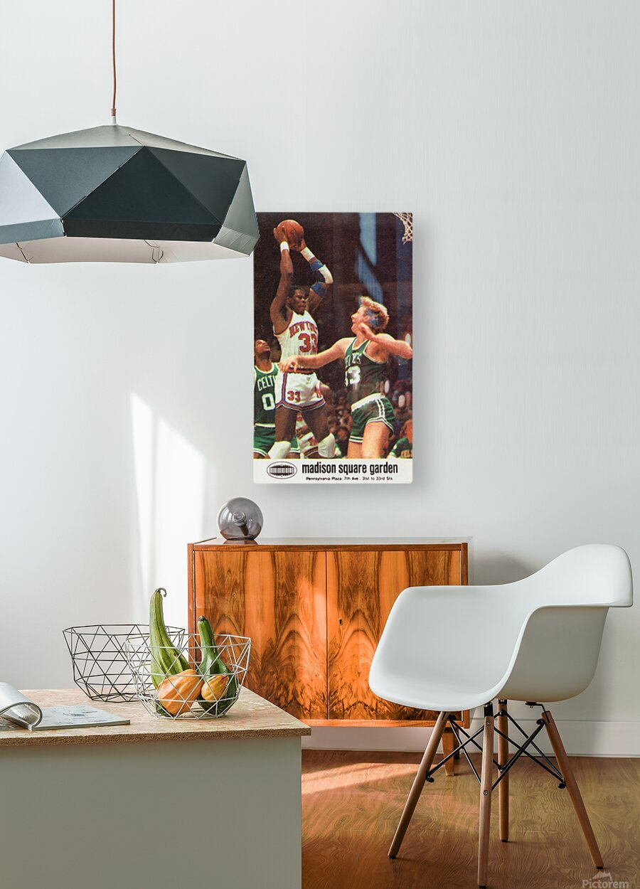 1986 New York Knicks  HD Metal print with Floating Frame on Back