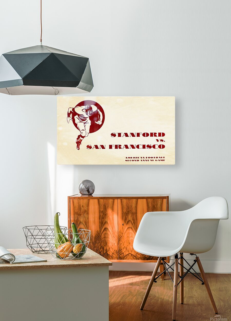 1933 Stanford vs. San Francisco American Football  HD Metal print with Floating Frame on Back