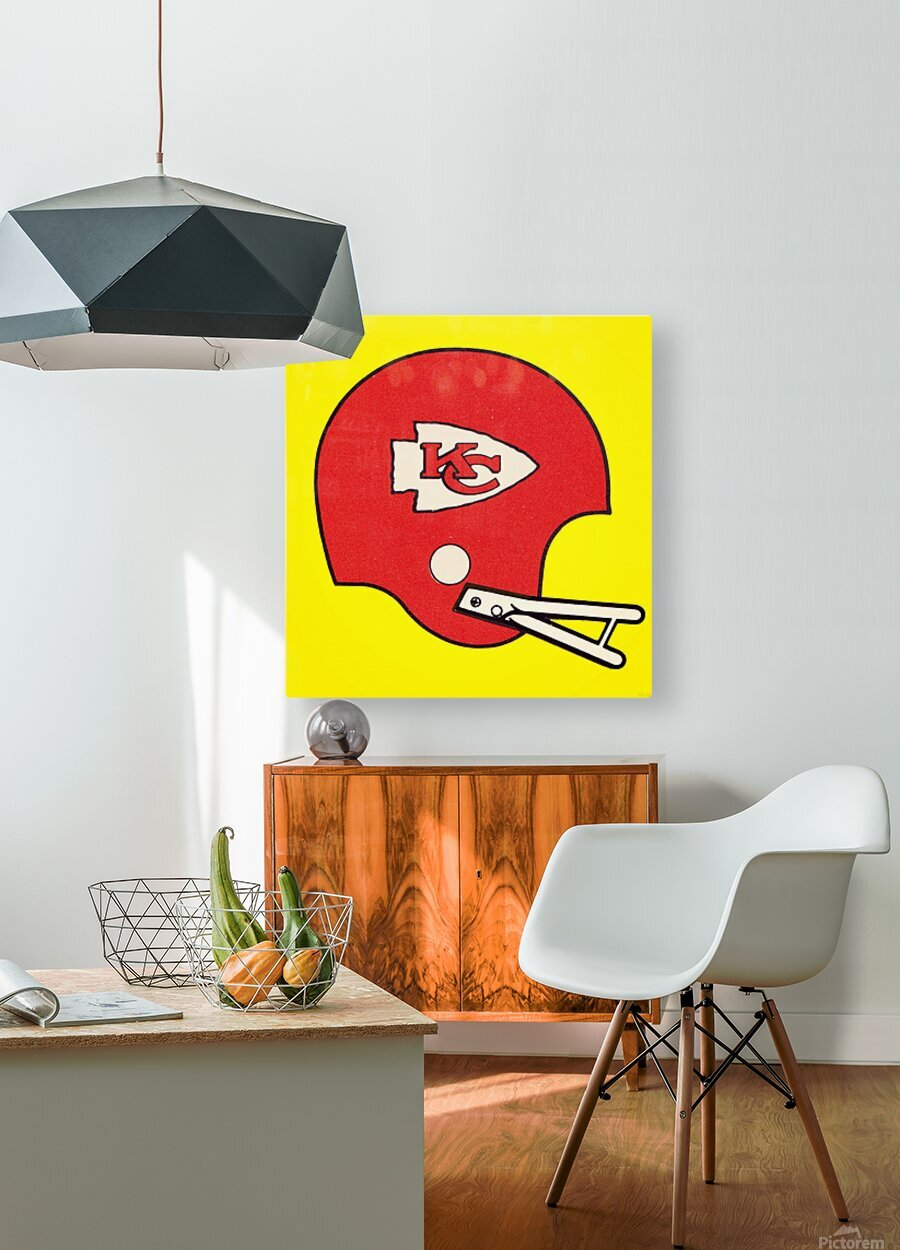 1982 Kansas City Chiefs Helmet Art  HD Metal print with Floating Frame on Back