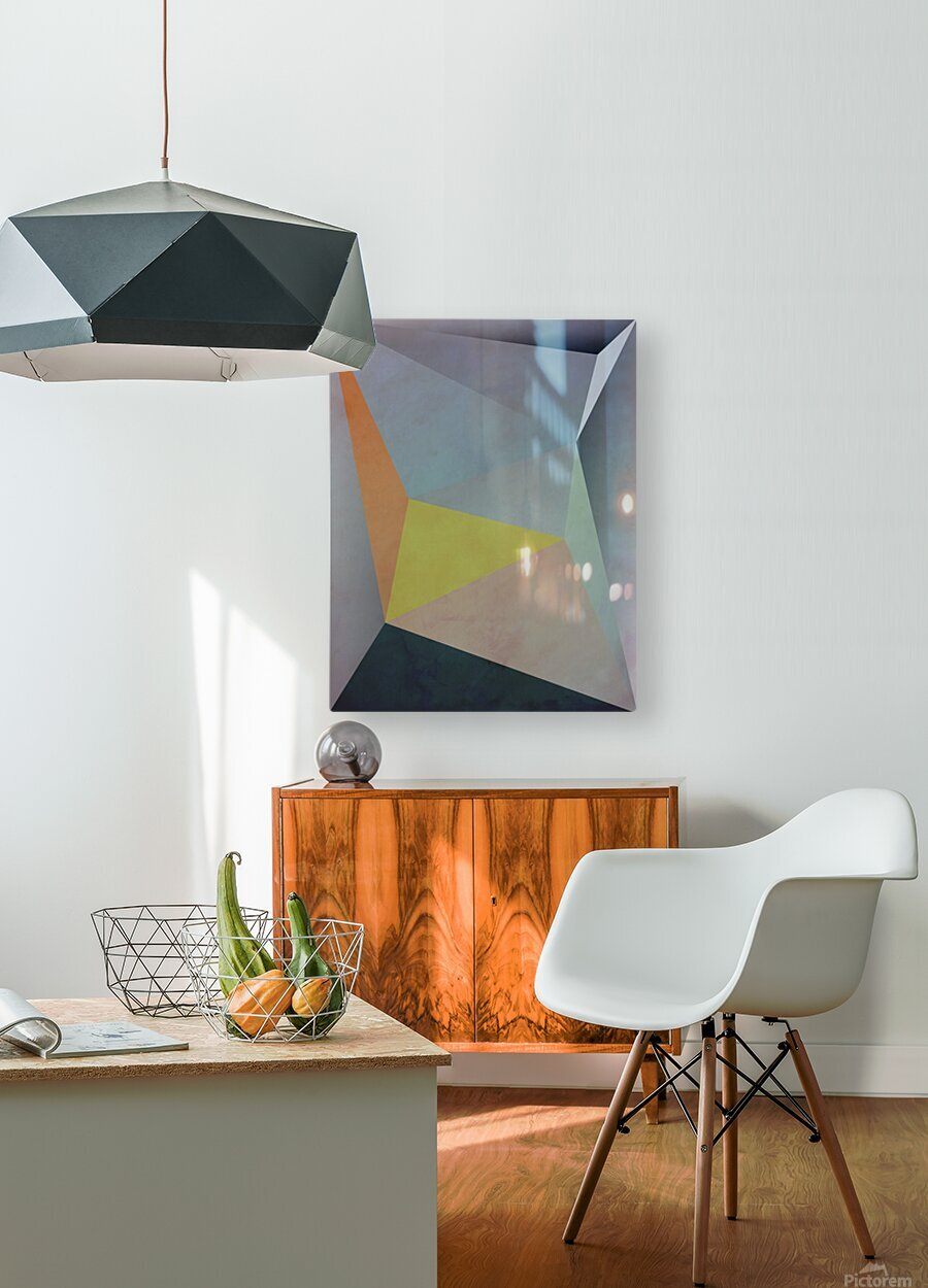 Abstract Composition 1137  HD Metal print with Floating Frame on Back
