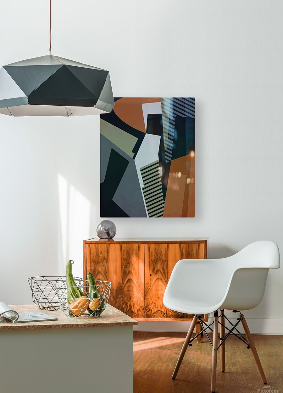 Abstract Composition 1132  HD Metal print with Floating Frame on Back