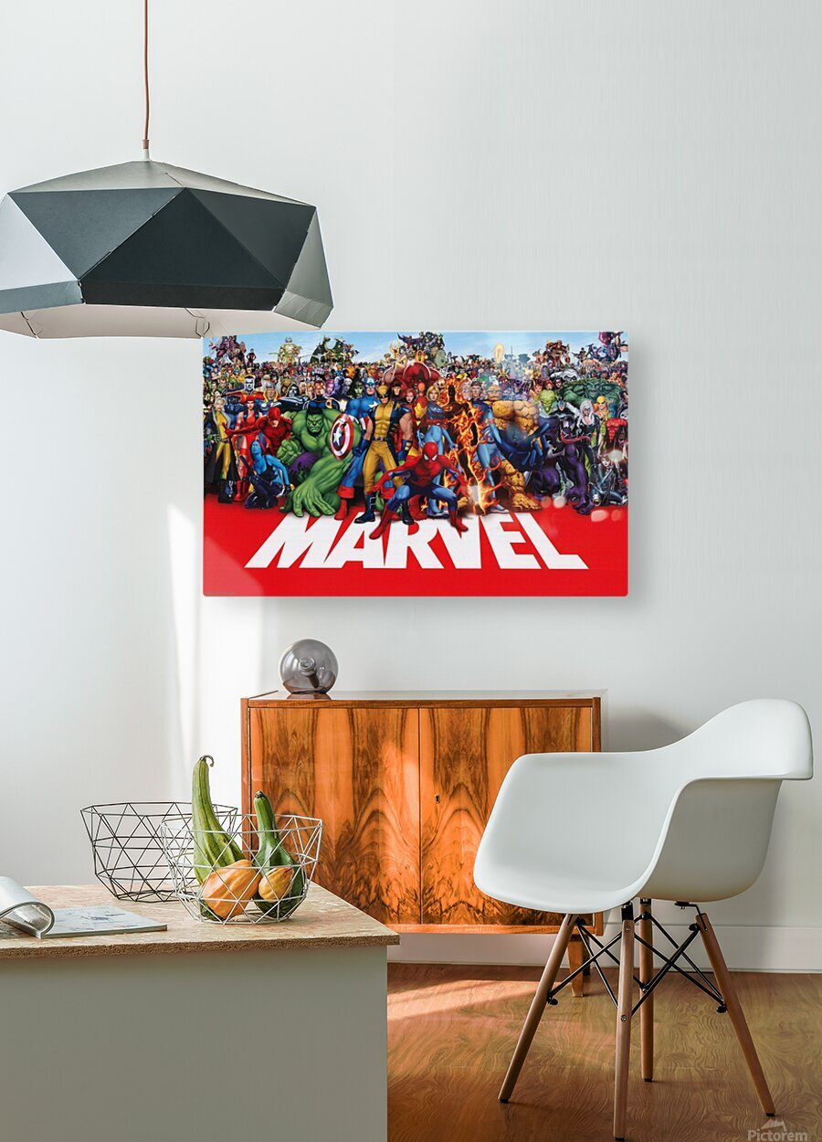 M-arvel squad  HD Metal print with Floating Frame on Back